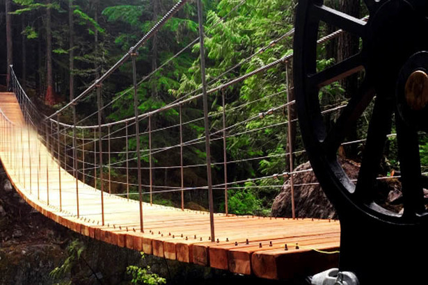 TRAIN WRECK SUSPENSION BRIDGE